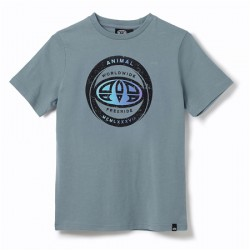 ANIMAL GRAPHIC ESCAPE BOYS T SHIRT LEAD GREY