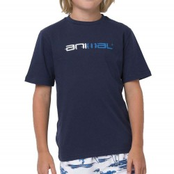 ANIMAL GRAPHIC SKETCHY BOYS T SHIRT INDIGO BLUE (BLUE LOGO)