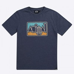 ANIMAL GRAPHIC RETRO BOYS T SHIRT INDIGIO BLUE
