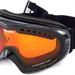 BLOC small-medium fit COMET ski snowboard Goggles SHINY BLACK/ Orange CAT.2