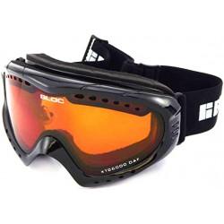 BLOC small-medium fit COMET ski snowboard Goggles SHINY BLACK/ Orange CAT.2