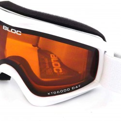BLOC small-medium fit COMET ski snowboard Goggles SHINY WHITE/ Orange CAT.2