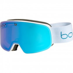 BOLLE NEVADA SMALL White Metallic Blue Matte Aurora Cat 2