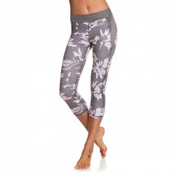 ROXY WOMENS TAKE ME TO THE BEACH UPF50 CAPRI SPORTS LEGGINGS