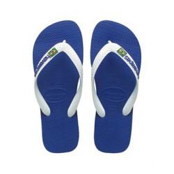 HAVAIANAS BRASIL LOGO AZURE BLUE/WHITE