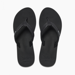 REEF CUSHION SANDS FLIP FLOPS BLACK