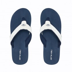 ANIMAL MENS BAZIL FLIP FLOPS INDIGO BLUE/ WHITE