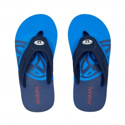 ANIMAL BOYS JEKYL SLICE FLIP FLOPS INDIGO BLUE