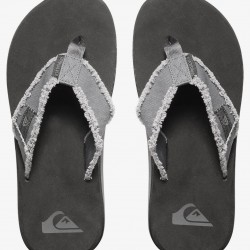 QUIKSILVER MONKEY ABYSS MENS FLIP FLOPS GREY/BLACK