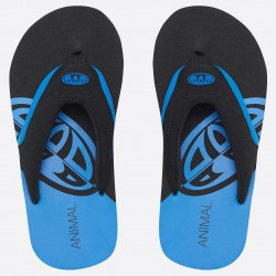 ANIMAL BOYS JEKYL SLICE FLIP FLOPS SEAPORT BLUE