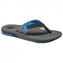 MENS REEF FANNIG LOW FLIP FLOPS GREY/BLUE