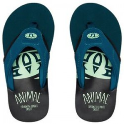ANIMAL BOYS JEKYL SLICE FLIP FLOPS LEGION BLUE