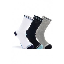 ANIMAL 3 PACK SOCKS STROBE ASSORTED BLACK/WHITE/GREY