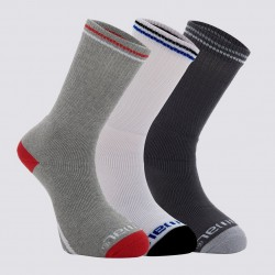 ANIMAL 3 PACK SOCKS STROBE ASSORTED GREY/WHITE/CHARCOAL