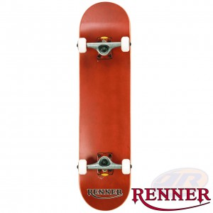RENNER PRO - 7 PLY, VIRUS TRUCKS, ABEC 9 - RED SKATEBOARD