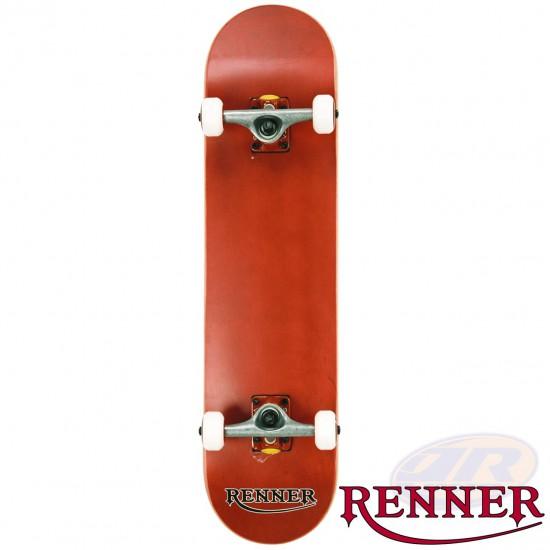 RENNER PRO - 7 PLY, VIRUS TRUCKS, ABEC 9 - RED SKATEBOARD