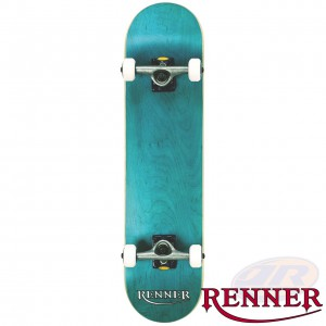 RENNER PRO - 7 PLY, VIRUS TRUCKS, ABEC 9 - BLUE SKATEBOARD