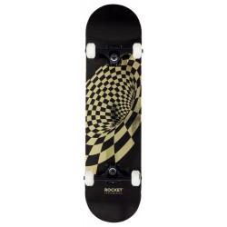"""Rocket Complete Skateboard Vortex Foil Gold 8"""""""