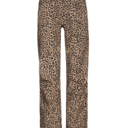 PROTEST ANGLE SOFTSHELL LEOPARD PRINT WOMENS SKI TROUSERS