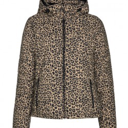 PROTEST DALLAS LEOPARD PRINT WOMENS SKI JACKET