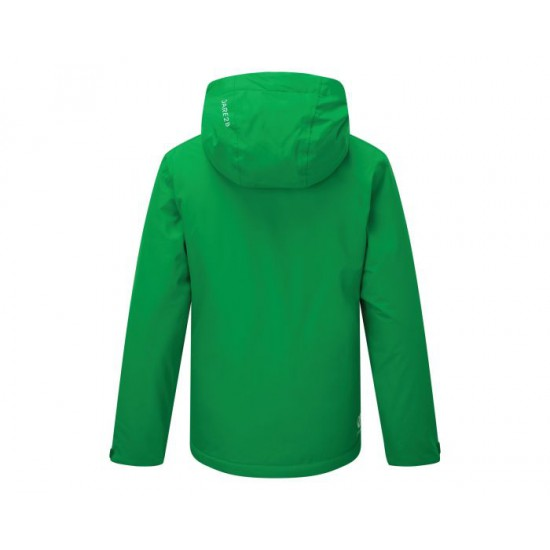 Dare 2b Kids' Enigmatic Waterproof Insulated Hooded Ski Jacket Vivid Green Space Grey