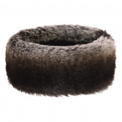 LUX FAUX FUR HEADBAND TIMBER WOLF