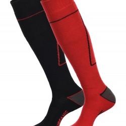 Surfanic Mens Pro Socks 2pk Racing Red/Black
