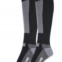 Surfanic Mens Endurance Merino 2 Pack Sock Black