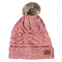 ANIMAL FUR BOBBLE BECKI BEANIE