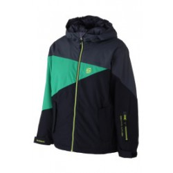 BOYS SURFANIC ROCKY BLACK/GREEN/GREY SNOW JACKET