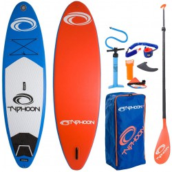 Typhoon Inflatable SUP Stand Up Paddle Boarding Package 10'2 Inc Board, Bag, Pump, Paddle & Leash/Strap