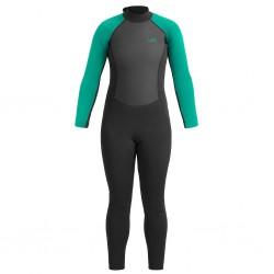 UB Womens Sailfin Long Wetsuit (Black/Aqua)