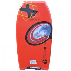 """XPLOSION BODYBOARD 36"""" RED WITH COIL LEASH"""