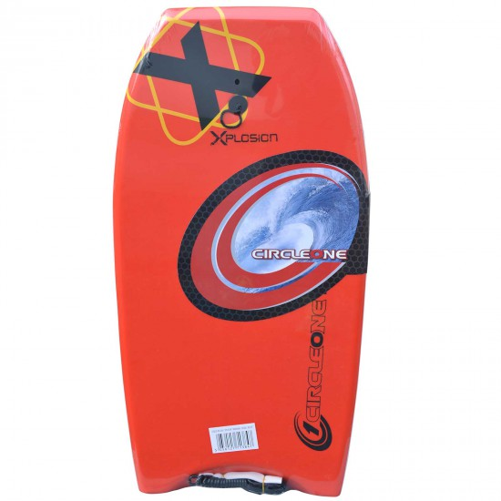 """XPLOSION BODYBOARD 40"""" RED WITH COIL LEASH"""