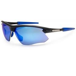 BLOC FOX XB761 Matt Black/Blue tips Blue Mirror Category 3