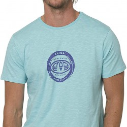 ANIMAL FREERIDE MENS T SHIRT PALE BLUE