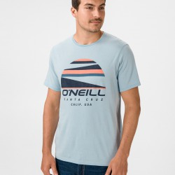 O'NEILL SUNSET LOGO MENS T SHIRT OPAL BLUE