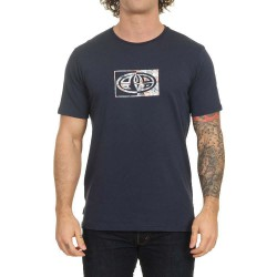 ANIMAL CLAW GRAPHIC MENS T SHIRT INDIGO BLUE