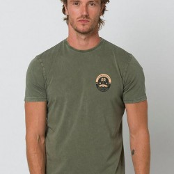 ANIMAL DELUXE GRAPHIC WINGS MENS T SHIRT OLIVE