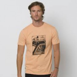 ANIMAL GRAPHIC WOODY MENS T SHIRT CORAL SANDS ORANGE