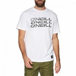 O'NEILL TRIPLE MENS T SHIRT SUPER WHITE