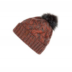 PROTEST DEVON BEANIE CORAL/DARK GREY