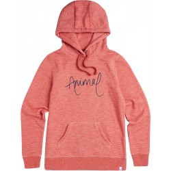 ANIMAL WOMENS SKETCHED HOODIE MINERAL RED MARL