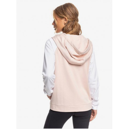 Roxy Womens After The Fall Sports Zip-Up Hoodie Peach Blush